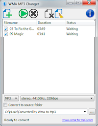 WMA MP3 Changer for Windows
